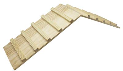 Cage ramp for small animal cage or habitat