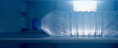 freezing a large bottle of water