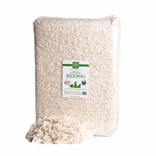 White unbleached paper bedding