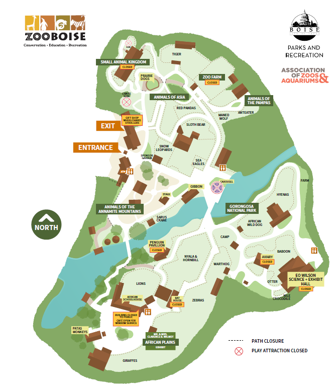 Map of Zoo Boise
